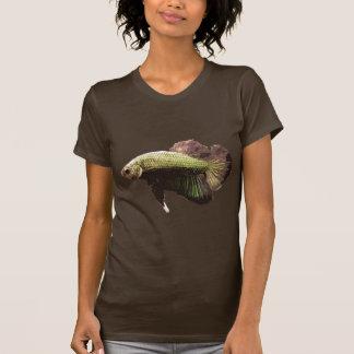 Pescados que luchan siameses de Betta del oro Camiseta