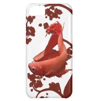 Pescados que luchan siameses rojos de Betta Carcasa iPhone 5C