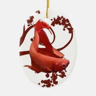 Pescados que luchan siameses rojos de Betta Ornamentos De Reyes