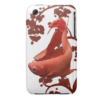 Pescados que luchan siameses rojos de Betta iPhone 3 Protectores