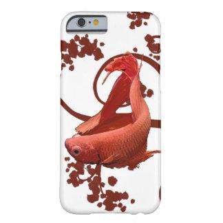 Pescados que luchan siameses rojos de Betta Funda Barely There iPhone 6