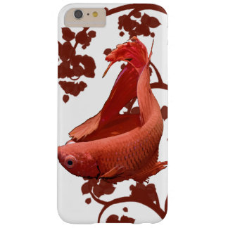 Pescados que luchan siameses rojos de Betta Funda Barely There iPhone 6 Plus