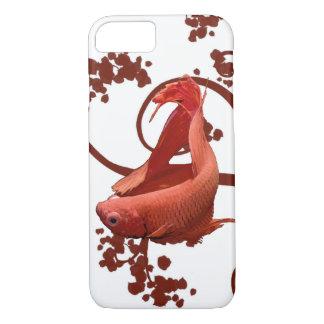 Pescados que luchan siameses rojos de Betta Funda iPhone 7