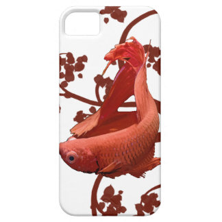 Pescados que luchan siameses rojos de Betta Funda Para iPhone SE/5/5s