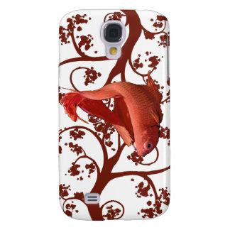 Pescados que luchan siameses rojos de Betta Samsung Galaxy S4 Cover