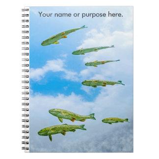 Pescados que nadan en el cielo libro de apuntes