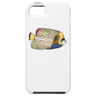 Pescados rayados del ángel iPhone 5 cárcasa