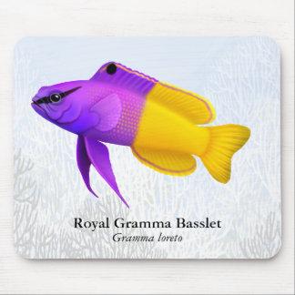Pescados reales Mousepad del arrecife de coral de