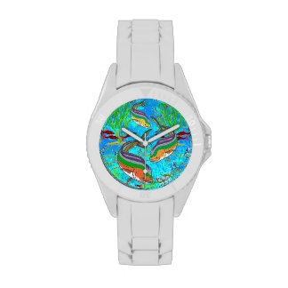 Pescados - reloj colorido de los pescados - person