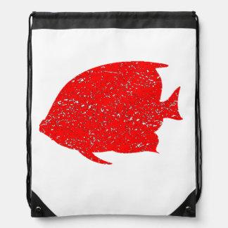 Pescados rojos apenados del ángel mochilas
