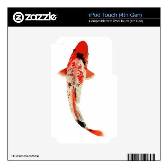 Pescados rojos, blancos, y negros de Koi Calcomanías Para iPod Touch 4G