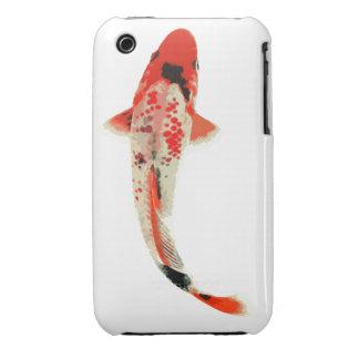 Pescados rojos, blancos, y negros de Koi iPhone 3 Carcasa