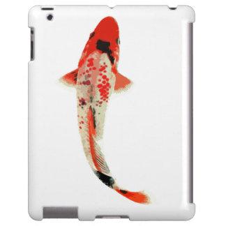 Pescados rojos, blancos, y negros de Koi Funda Para iPad