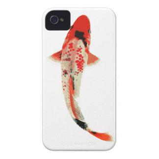 Pescados rojos blancos y negros de Koi iPhone 4 Coberturas