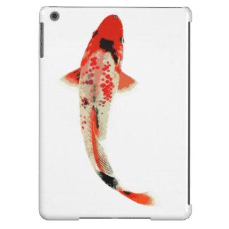 Pescados rojos, blancos, y negros de Koi Funda Para iPad Air