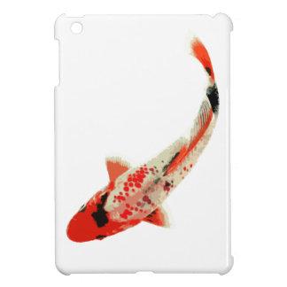 Pescados rojos, blancos, y negros de Koi iPad Mini Funda