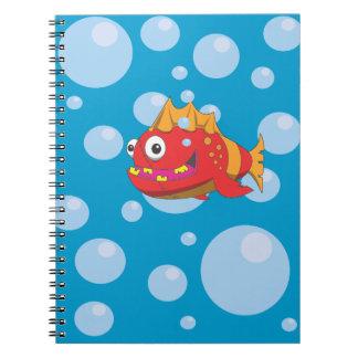 Pescados rojos con las puntadas spiral notebook