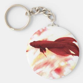 Pescados rojos de Betta Llaveros