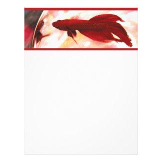 Pescados rojos de Betta Plantillas De Membrete
