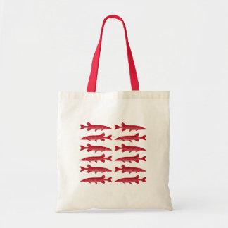 Pescados rojos de Muskie Bolsa Tela Barata