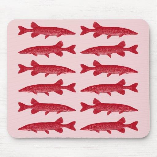 Pescados rojos de Muskie Mousepads
