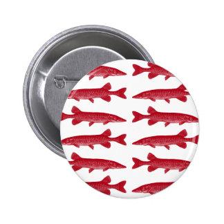 Pescados rojos de Muskie Pin Redondo De 2 Pulgadas
