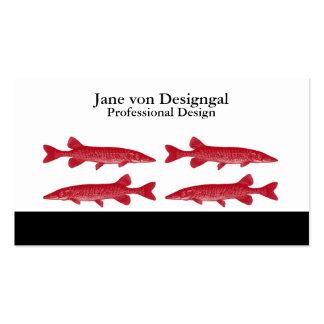 Pescados rojos de Muskie Tarjetas De Visita