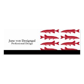 Pescados rojos de Muskie Plantillas De Tarjeta De Negocio