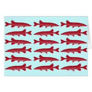 Pescados rojos de Muskie Tarjeta De Felicitación