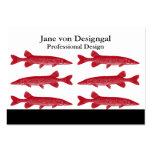 Pescados rojos de Muskie Tarjeta Personal