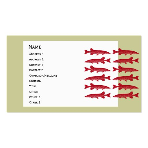Pescados rojos de Muskie Tarjetas De Negocios