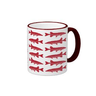 Pescados rojos de Muskie Taza De Dos Colores