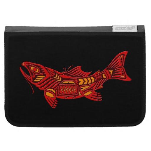 Pescados rojos del alcohol del Haida en negro