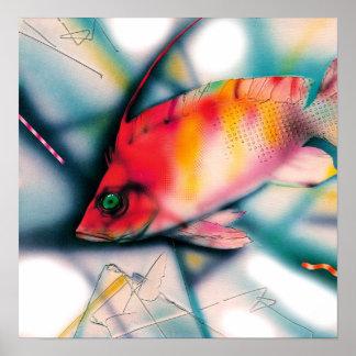 Pescados rojos exóticos poster