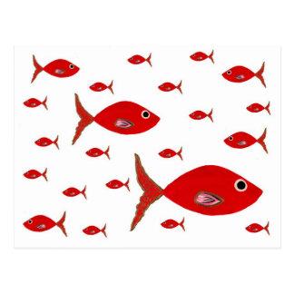 Pescados rojos tarjeta postal
