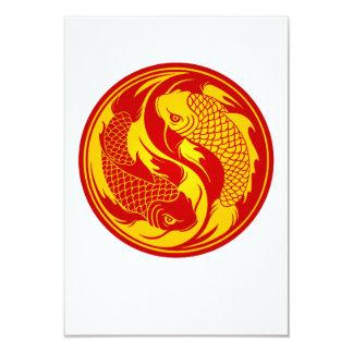 Pescados rojos y amarillos de Yin Yang Koi Comunicados