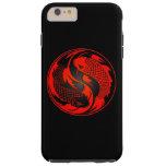 Pescados rojos y negros de Yin Yang Koi Funda De iPhone 6 Plus Tough