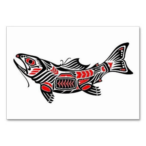 Pescados rojos y negros del alcohol del Haida