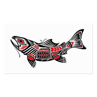 Pescados rojos y negros del alcohol del Haida Tarjeta De Visita