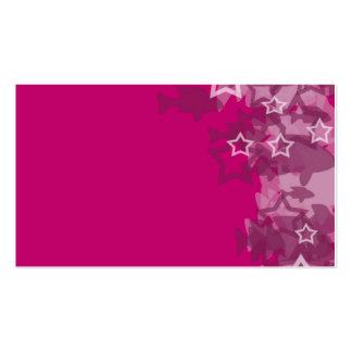 pescados rosados adaptables de la tarjeta 1 en fol plantillas de tarjetas de visita