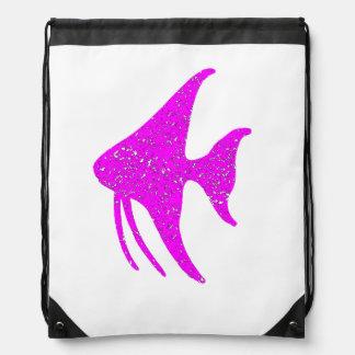 Pescados rosados apenados del ángel mochila