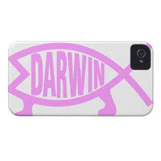 Pescados rosados de Darwin iPhone 4 Case-Mate Coberturas