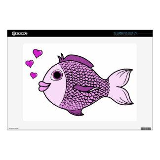 Pescados rosados del el día de San Valentín con Skins Para 33cm Portátiles