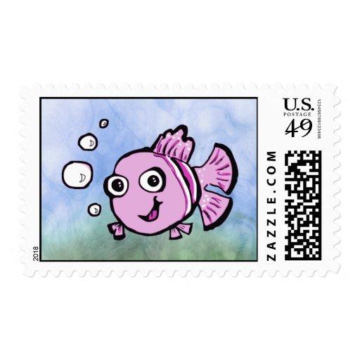 Pescados rosados lindos franqueo