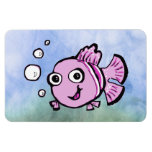 Pescados rosados lindos imán de vinilo