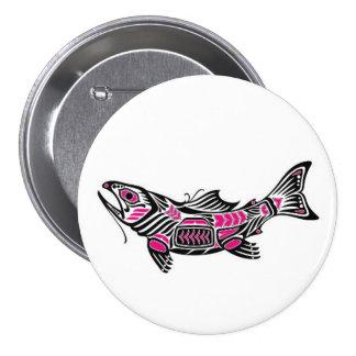 Pescados rosados y negros del alcohol del Haida Pin
