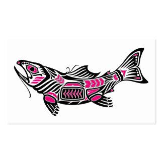 Pescados rosados y negros del alcohol del Haida Plantillas De Tarjetas Personales