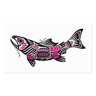 Pescados rosados y negros del alcohol del Haida Tarjeta De Visita