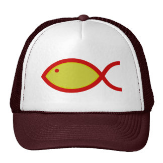 Pescados RUIDOSOS - oro con rojo Gorro