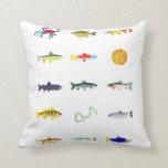 Pescados, serpiente de mar, almohada del cangrejo